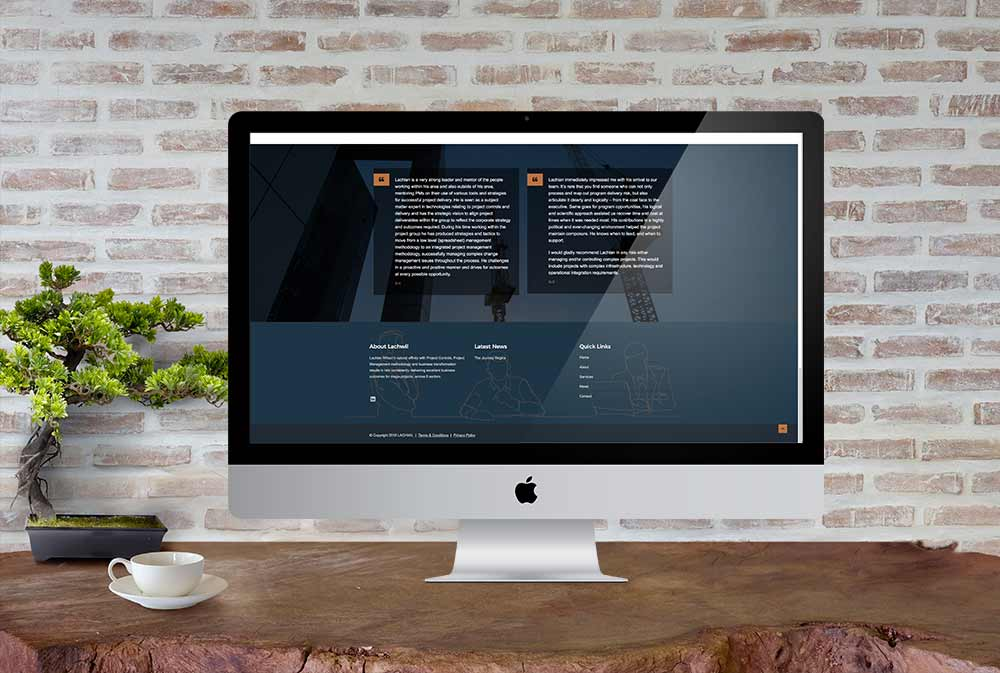 Lachwil website footer deisgn iMac