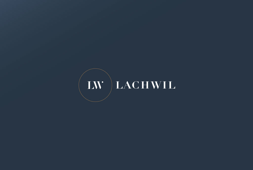 LachWil logo and icon design