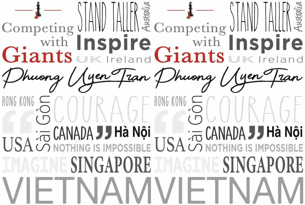 Competing with Giants, Phuong Uyen Tran word art
