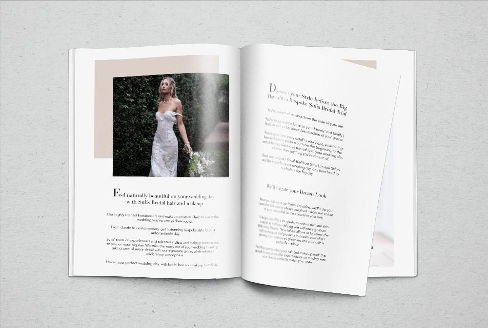 Sulis Bridal brochure inside