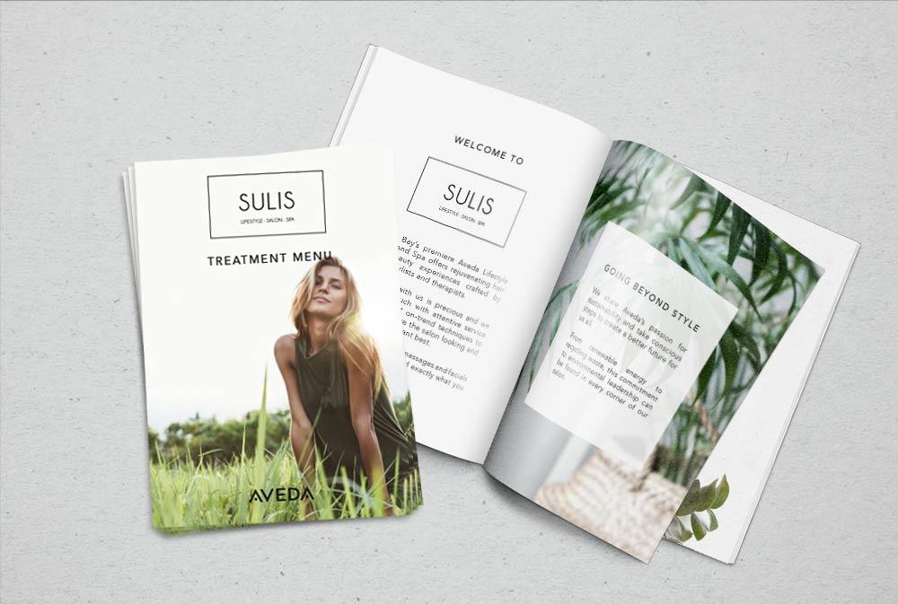 Sulis Treatment menu