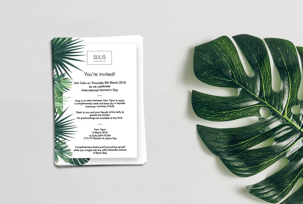 Sulis woman's day invitation