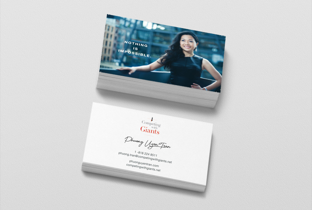 Phuong Uyen Tran and Competing with Giants Business cards