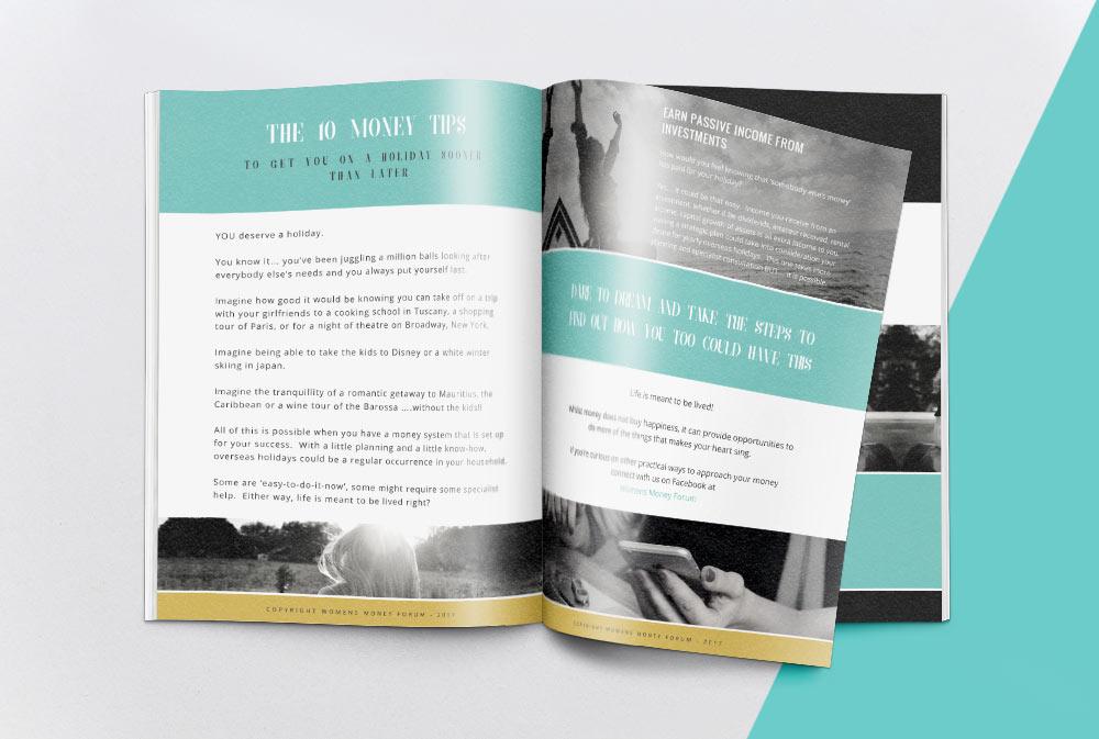 womens money forum brochure