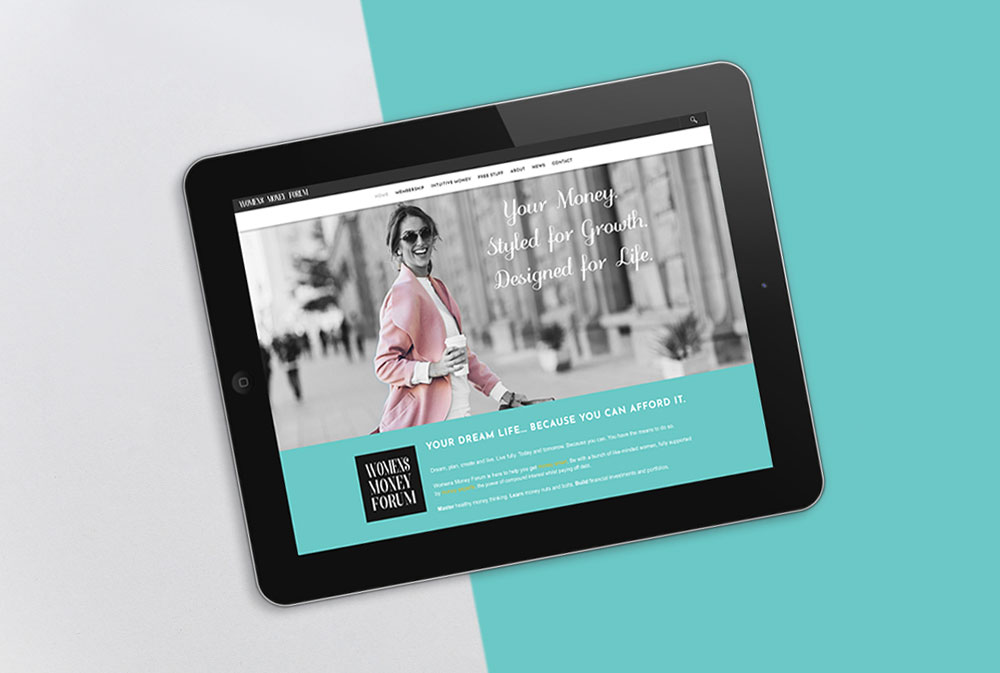 womens money forum website iPad