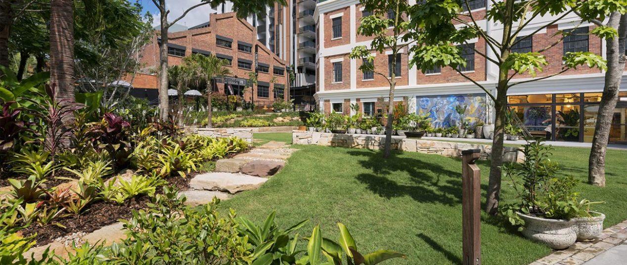 West Village in Brisbane exterior wellness garden