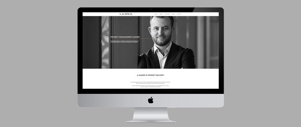 Lachlan Wilson personal branding website mock up